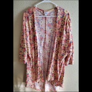 LuLaRoe Lindsay Floral Boho Kimono Cardigan